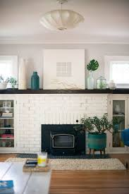 Brick Fireplace Mantel Best 20 White Brick Fireplaces Ideas On Pinterest Brick