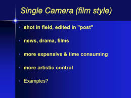 Types of Production From live multi-camera to single- camera film ...