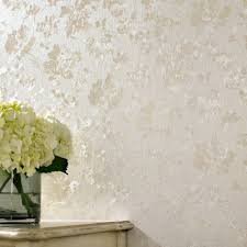 graham  brown cream shimmer floral silk wallpaper  house of fraser