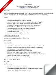 Resumes For Preschool Teachers Emelcotest Com