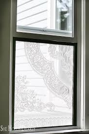 diy lace window screen