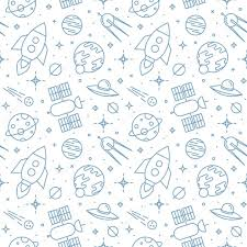 Space Pattern Unique Seamless Space Pattern Childish Background Stock Vector