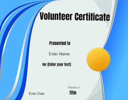 Free Online Printable Certificates Of Achievement Volunteer Certificate Of Appreciation Customize Online Then Print
