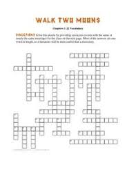 walk two moons novel project activities ipod touch moon and  these two crossword puzzles are based on vocabulary from walk two moons every answer is