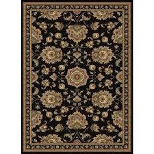 sensation black 11 ft x 15 ft traditional area rug sensation black