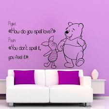 Wall Quotes Unique Shop Winnie The Pooh Wall Quotes Children Wall Decor Home Art Girl