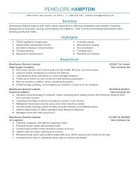 General Labor Sample Resume Imposing Objective Samples For Resume ...