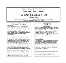 February Newsletter Template 12 Printable Preschool Newsletter Templates Pdf Docs
