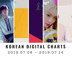 Music Chart Korean Digital Charts 28th Week 2019 2019 07