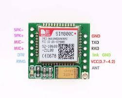 Smallest <b>SIM800C</b> GPRS GSM Module MicroSIM Card Core <b>Board</b> ...