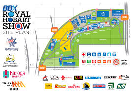 show map – rast hobart showground