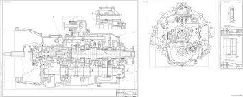 Курсовые и дипломные работы автомобили расчет устройство  Чертежи Коробка передач КАМАЗ 55111