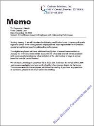 Business Memo Format Are There Types Of Memos