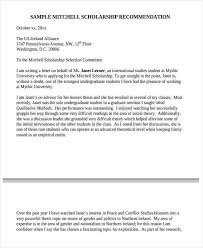 High School Recommendation Letter For Student 11 High School Recommendation Letter Template 10 Free