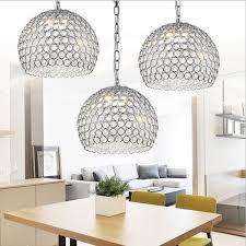 led pendant lights globe crystal chandeliers modern contemporary crystal droplight bedroom living room dining room