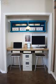 closet to office. a closet turned office to