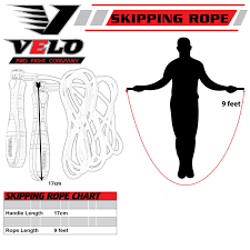Speed Rope Size Chart Details About Velo Leather Skipping Speed Rope Exercise Workout Fitness Jumping Ropes Gym