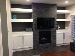 built in floating shelves my diy stone fireplace with built in cabinets and floating shelves on