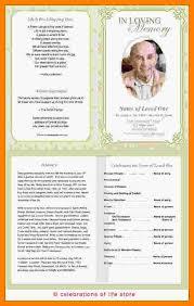 printable program templates 7 free printable funeral programs templates st