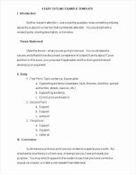 Mla Format Outline Template Beautiful College Essay Outline Template