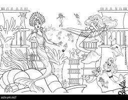 Barbie In A Mermaid Tale Coloring Pages Eris Afraid Merliah Online ...