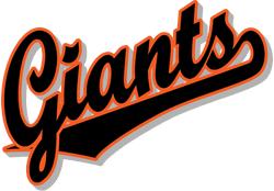 Team Pride: Giants team script logo