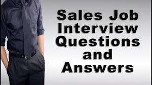 Sales Job Interview Questions And Answers Youtube