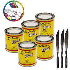 1 One Shot 5 Color Lettering Enamel Pinstripe Paint Kit