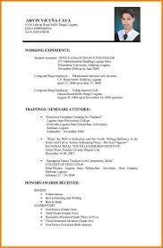 Example Resume Format Lcysne Com