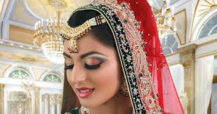 red bronze green indian stani traditional bridal makeup tutorial you
