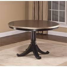 black round pedestal table