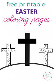 Easter coloring page with few details for kids. Free Printable Easter Coloring Pages For Kids