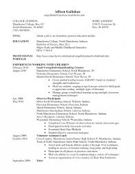Objective For Teaching Resume Special Education Samples Cover Letter