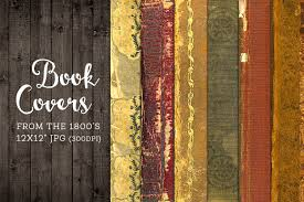 Old Worn Book Covers Digital Paper Graphics Creative Market