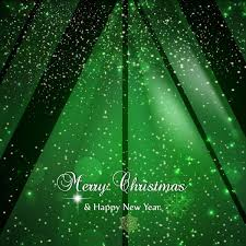 Green Sparkles Christmas Background Template