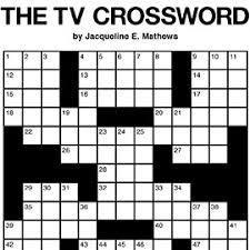 Tv Guide Chart For Short Crossword The Daily Commuter Puzzle By Jackie Mathews Tribune