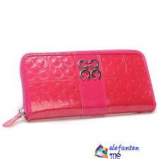 Coach Logo Monogram Large Wallets Pink