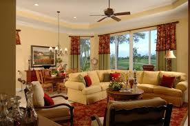 simple country living room. Nice Ceiling Fan With Simple False White For French Country Living Room Decorating Ideas Pale Yellow Comfortable Sofa Set And Maroon Rug 5