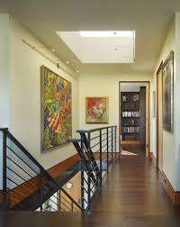 gallery track lighting. second level art gallery hall with sky light and led track lighting contemporary i