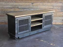 Vintage Industrial Media Cabinet
