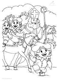 Kleurplaat Sinterklaas Zwarte Piet Kleurplaat Mini Pietjes