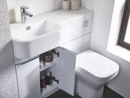 tavistock match compact vanity set 1000mm complete with one piece basin white gloss right hand set