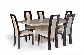 cream marble dining table set