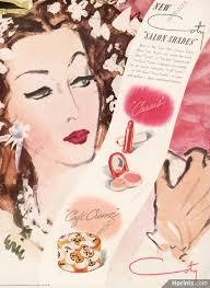 coty cosmetics 1943 lipstick face