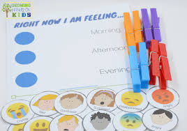 Diy Emotions Clothespins Activity Chart Includes A Free