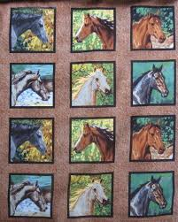 12 best horse quilt fabrics images on Pinterest | Horse quilt ... & Endless Summer Horse Head Blocks Wild Wings 100% Cotton Fabric BTY Yard  Equine #SpringsIndustries Adamdwight.com