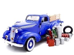 1937 Studebaker Pickup Truck Blue With Accessories 1/24 Diecast ...