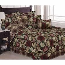 cabin bear moose saranac patchwork 5 piece comforter set 109 99