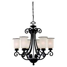 sea gull lighting acadia 6 light misted bronze 1 tier chandelier