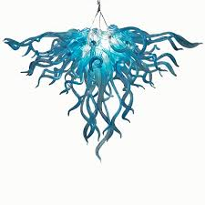 anemone 103 hand blown glass chandelier by seth parks glass